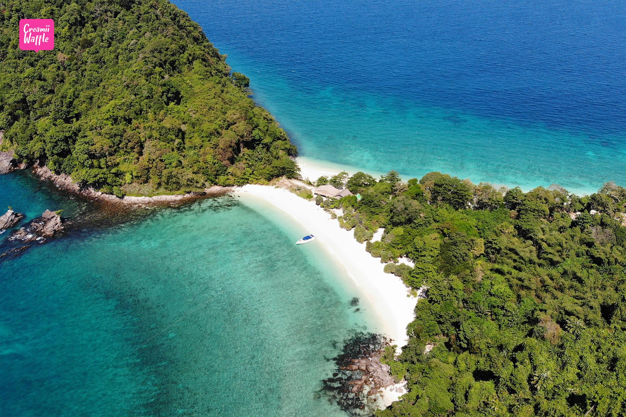 bruer island myanmar twin beach