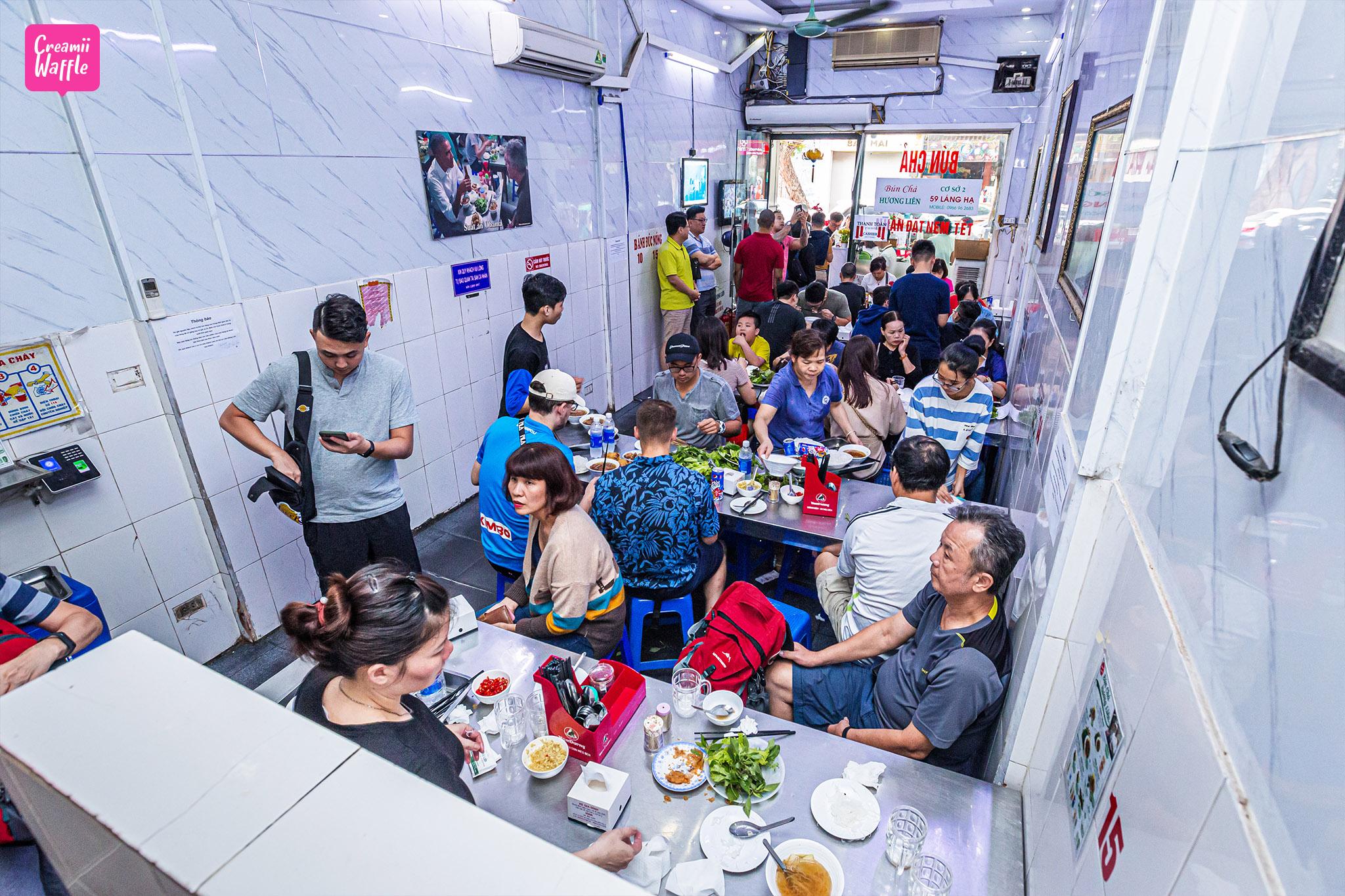 Bún chả Hương Liên OBAMA ร้านอาหารเด็ดเวียดนาม