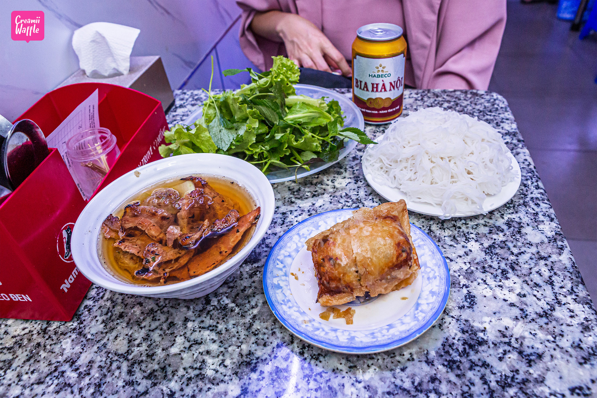 Bún chả Hương Liên OBAMA อาหารเด็ดเวียดนาม
