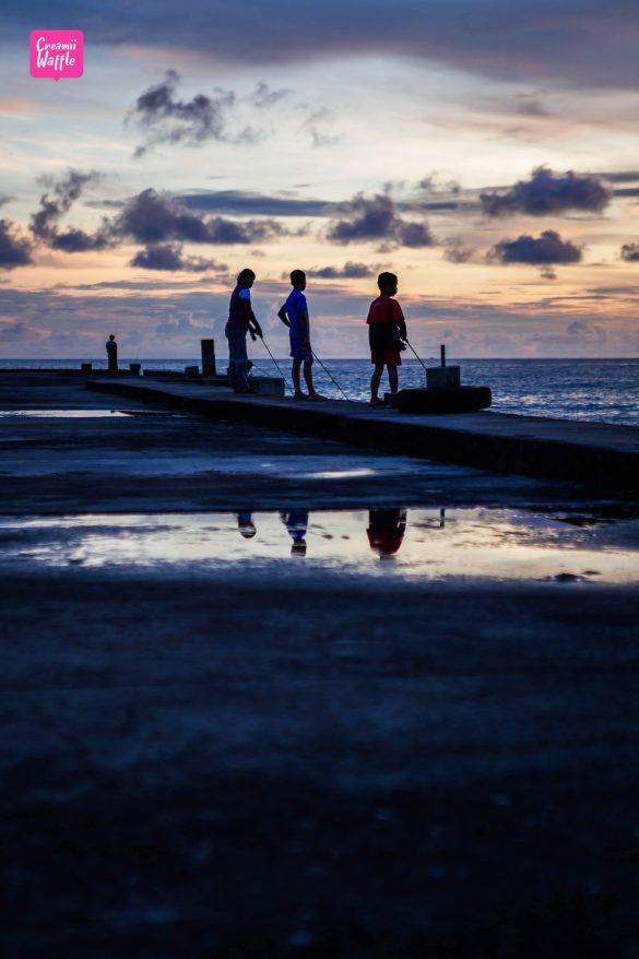 เกาะกูด พาราไดซ์ บีช ตกหมึก ตกปลา