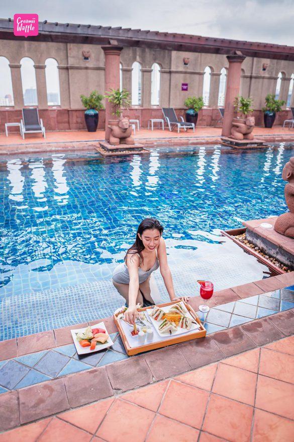 crowne plaza รีวิว โรงแรม คราวน์พลาซ่า creamii waffle