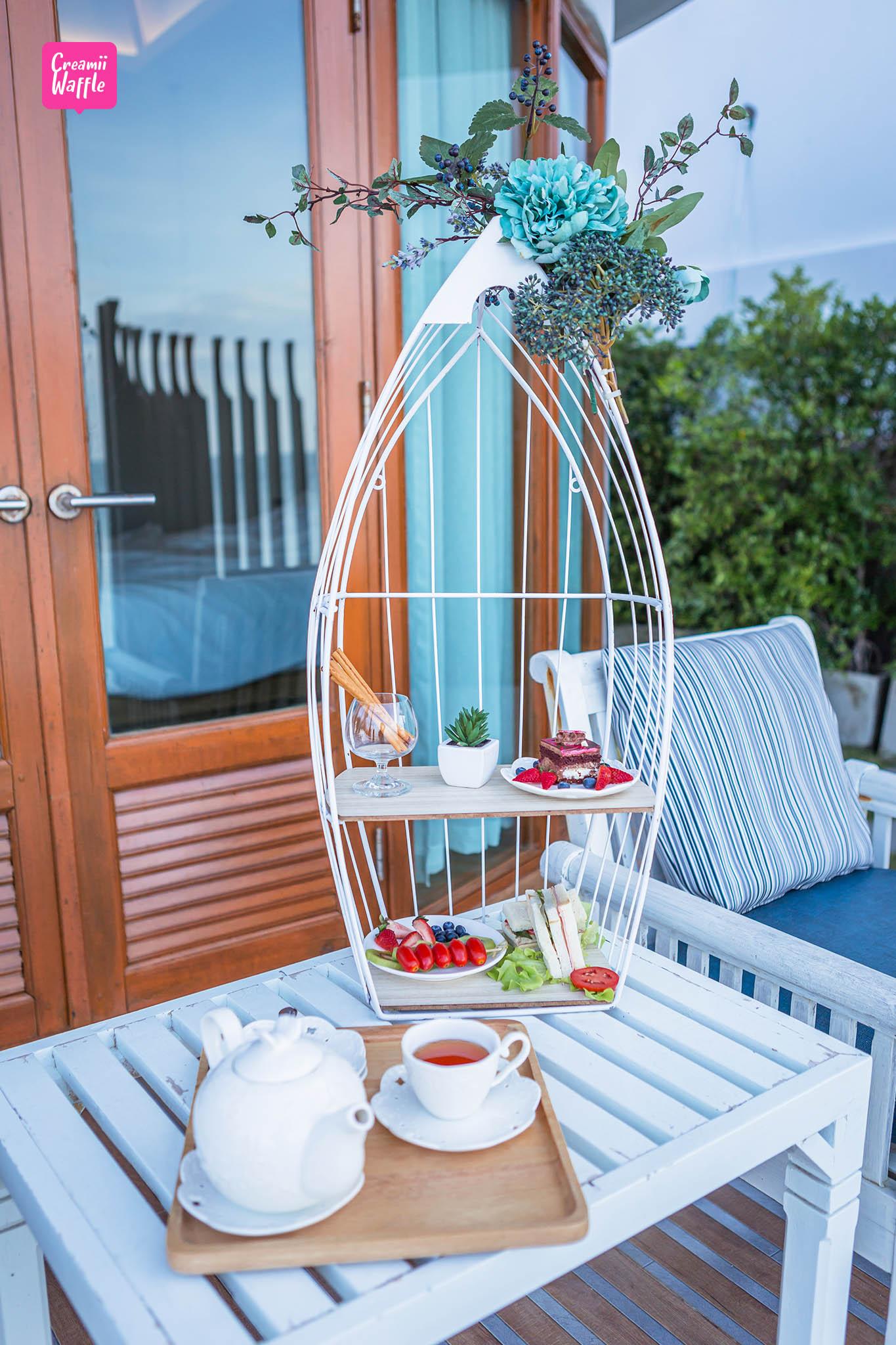 มัลดีฟส์บีชรีสอร์ท ที่พักจันทบุรี Afternoon Tea Set