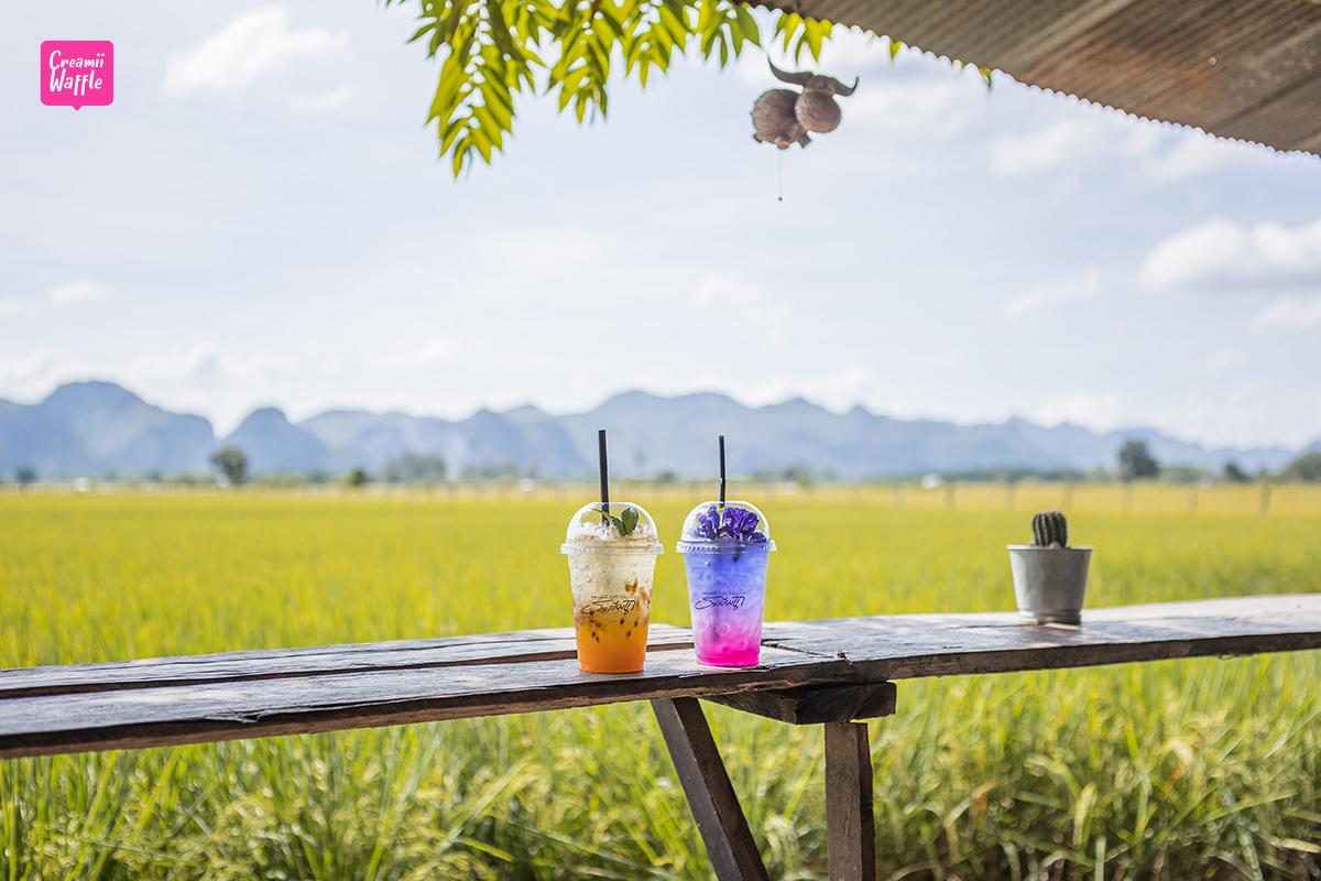 ระเบียงนา คาเฟ่ (รีวิว) กาญจนบุรี Rabiangna Cafe