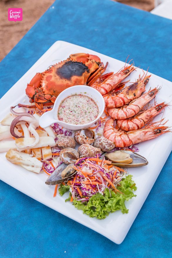 อาหารทะเล จันทบุรี มัลดีฟส์ บีช รีสอร์ท