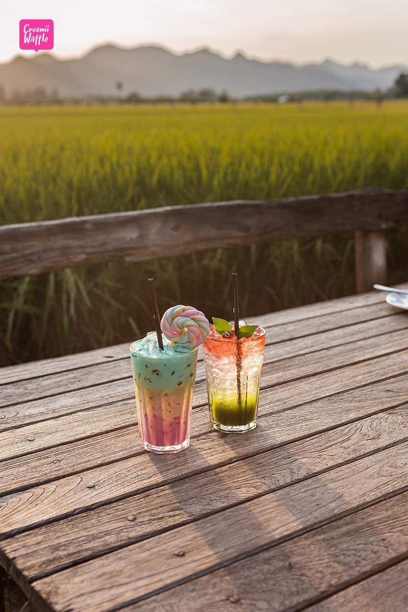 cafe กาญจนบุรี ระเบียงนา คาเฟ่